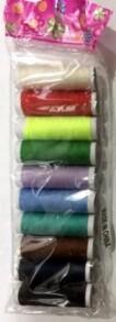 Нитки кольорові (10шт). Фото 2