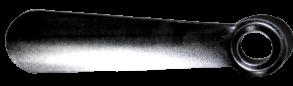 Лопатка для взуття металева срібна 22см