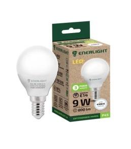 Лампочка LED ENERLIGHT P45  9W E14 4100K. Фото 2