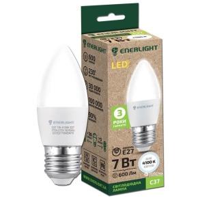 Лампочка LED ENERLIGHT C37 7W E27 4100K. Фото 2