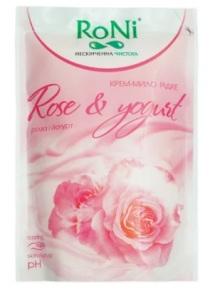 Крем-мило RoNi Роза і йогурт дой-пак 450мл