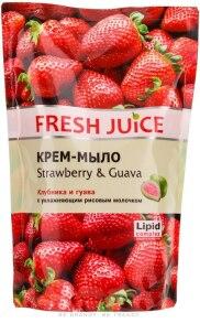 Крем-мило Fresh Juice Полуниця і гуава дой-пак 460мл