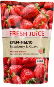Крем-мило Fresh Juice Полуниця і гуава дой-пак 460мл. Фото 2