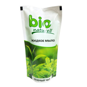 Крем-мило BIO Зелений чай дой-пак 500мл. Фото 2