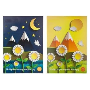Кольоровий картон+папір 14 арк 11В-018 Руслан
