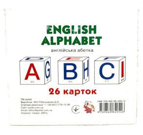 Картки навчальні Англійська абетка 26 карток Jumbi