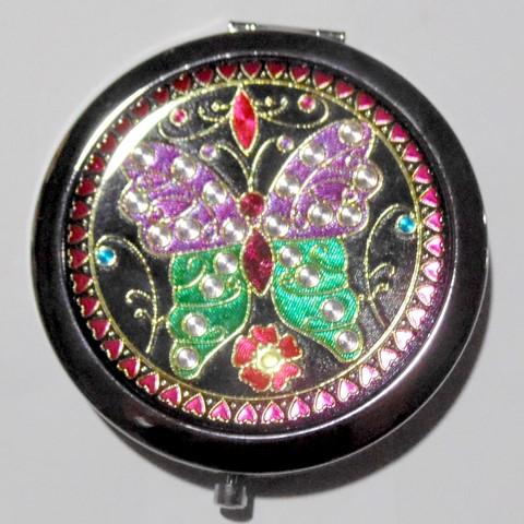 Дзеркало металеве кругле розкладне