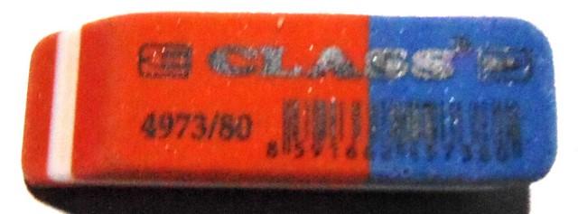 Гумка синьо-червона 4973-80 Class