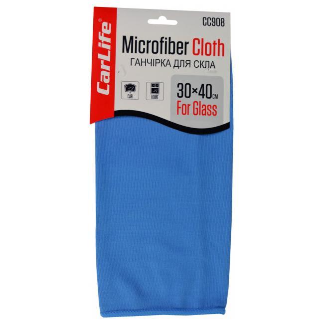 Ганчірка мікрофібра для скла 30*40 CarLife