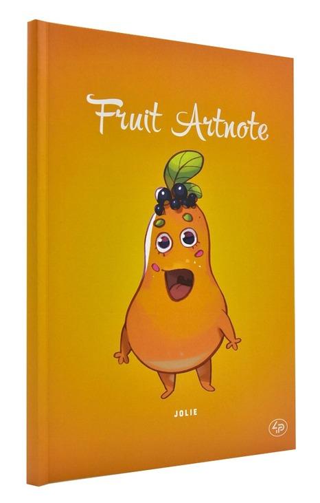 Блокнот A5 Fruit artnote 4P асорті