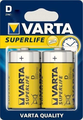 Батарейки VARTA R20 2шт