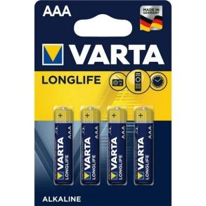 Батарейки VARTA LONGLIFE R3 4шт. Фото 2