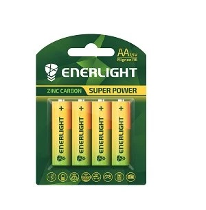 Батарейки ENERLIGHT SUPER POWER R6 4шт блістер