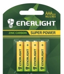 Батарейки ENERLIGHT SUPER POWER R3 4шт блістер