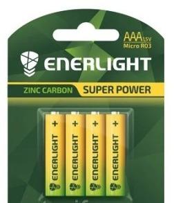 Батарейки ENERLIGHT SUPER POWER R3 4шт блістер. Фото 2