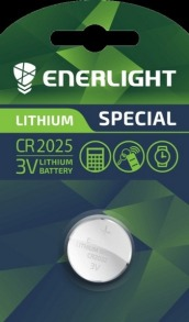 Батарейка таблетка ENERLIGHT Lithium CR2025. Фото 2