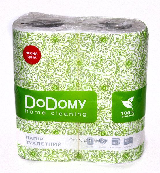Папір туалетний 4шт DoDomy