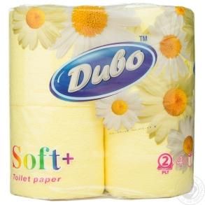 Папір туалетний 4шт Диво 2-х шаровий Жовтий