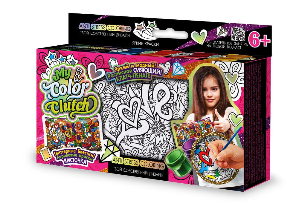 Пенал-розмальовка My Color Clutch CCL-01-01U,02U,03U...06U