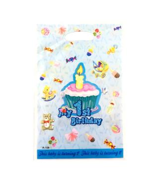 Подарунковий пакет My 1st B-day блакитний 55105