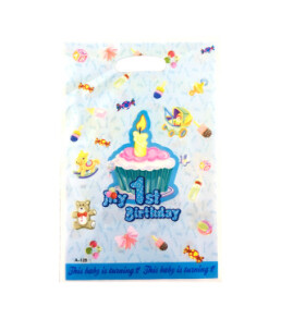 Подарунковий пакет My 1st B-day блакитний 55105. Фото 2