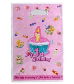 Подарунковий пакет My 1st B-day рожеві 55104