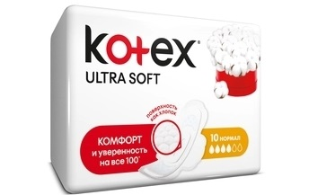 Прокладки Kotex Ultra soft 10шт нормал