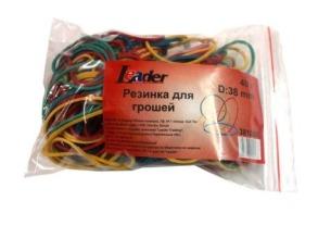Резинка для грошей кольорова 40г Leader 381050