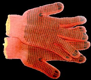 Рукавиці робочі оранжеві. Фото 2