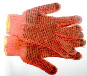 Рукавиці робочі оранжеві. Фото 3