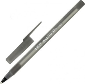 Ручка BIC Round Stic чорна. Фото 2