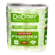 Рушники паперові 2шт DoDomy 2-х шар. Фото 2
