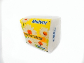 Серветки столові Malvar 100шт