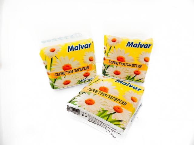 Серветки столові Malvar 30шт