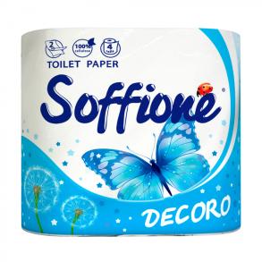 Папір туалетний 4шт Soffione Dekoro 2-х шаровий. Фото 2