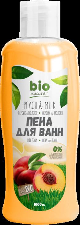 Піна для ванн BIO Персик і молоко 1000мл