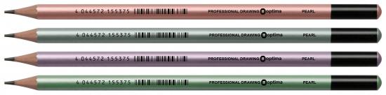 Олівець Optima Pearl HB 15537 асорті