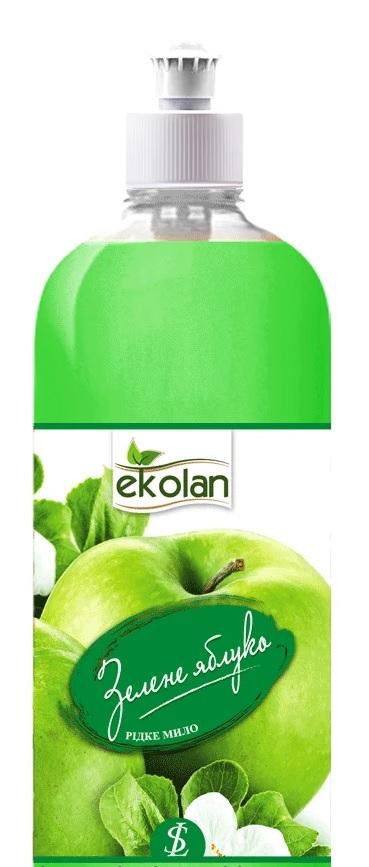 Мило рідке Ekolan Зелене Яблуко 500мл запаска