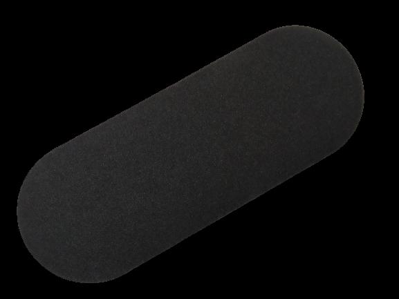 Пилочка пінопласт овальна чорна 13,5 см