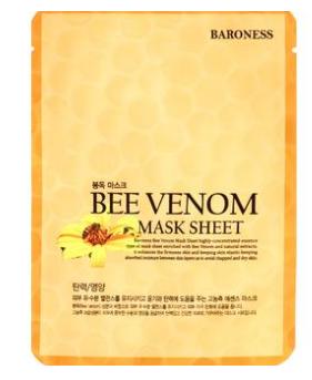 Маска тканева д/обличчя BARONESS з екст бджол отрути