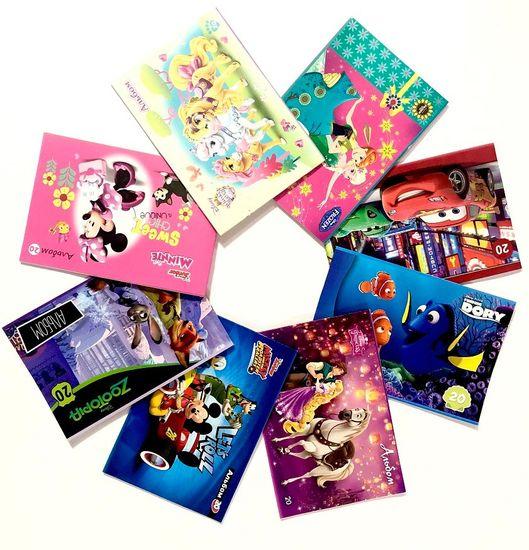 Альбом для малювання 20 арк скоба Глітер Disney Тетрада