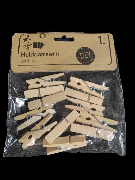 Прищепки декор деревяні Holzklammern 0335