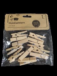 Прищепки декор дерев'яні Holzklammern 0335