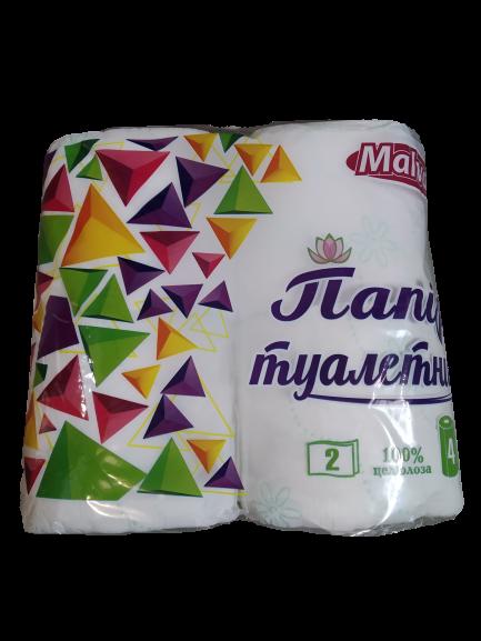 Папір туалетний 4шт Malvar 2-х шаровий 90мм