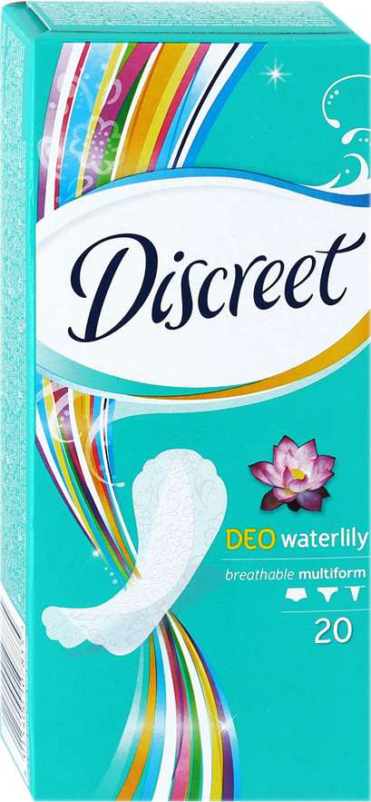 Прокладки DISCREET Щоденні Deo Water Lily Multiform 20шт