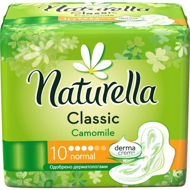 Прокладки NATURELLA Classic з крильцями Camomile Normal Single 10шт