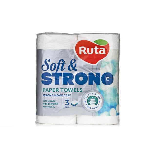Рушники паперові 2шт Ruta Soft Strong 3-х шар Білі
