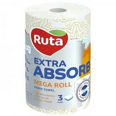 Рушники паперові 1шт Ruta Selecta Mega roll EA 3-х шар
