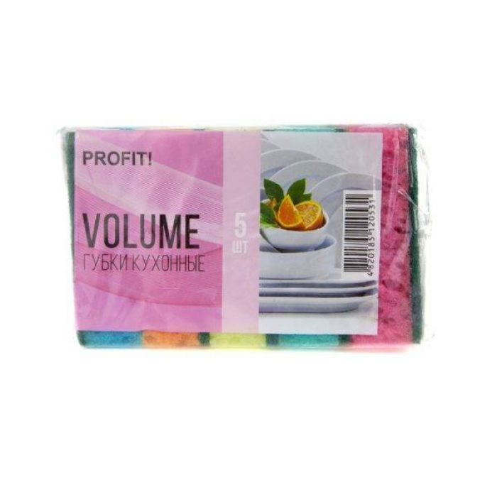 Губка кухонна Volume 5шт Profit
