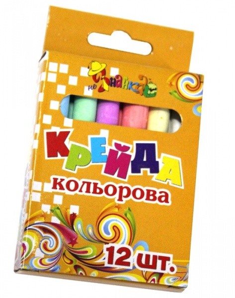Крейда 12шт кольорова кругла 8051-12